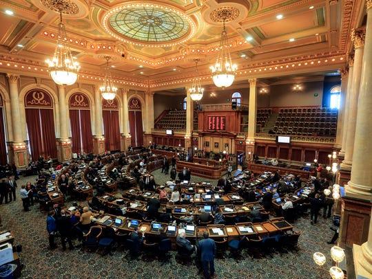 The Iowa legislative session opens at the Iowa State