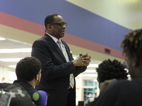 The Rev. Greg James, who did 14 years in a maximum security prison before getting out in 2008, is now a pastor and a motivational speaker who stresses the importance of good decisions for young people. James spoke to students at Godby High School during its BLAST program Tuesday.