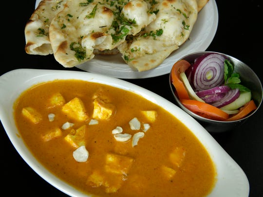 Among Indian Delight's curries is shahi paneer ,  house-made cheese in a creamy sauce with cashews.