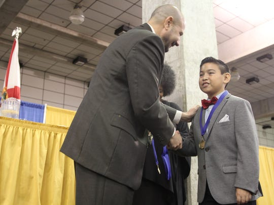 Conley Elementary School's Julian Chavez was recognized at the annual Dreamers and Doers breakfast in honor of Martin Luther King, Jr. held Friday morning at Florida State's Donald L. Tucker Civic Center.
