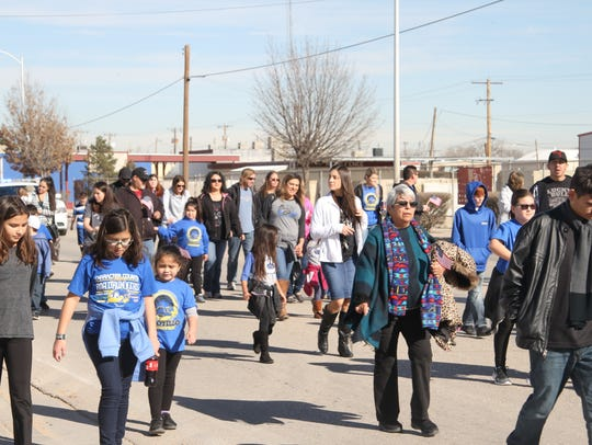 Carlsbad residents marched to the Martin Luther King