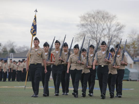 Everett Alvarez's NJROTC program had it's annual inspection on Tuesday.
