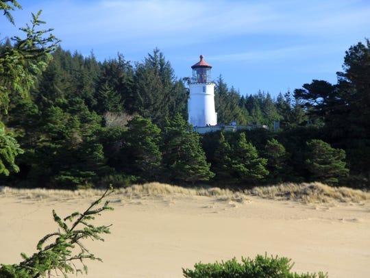 Umpqua Lighthouse on the Oregon Coast.