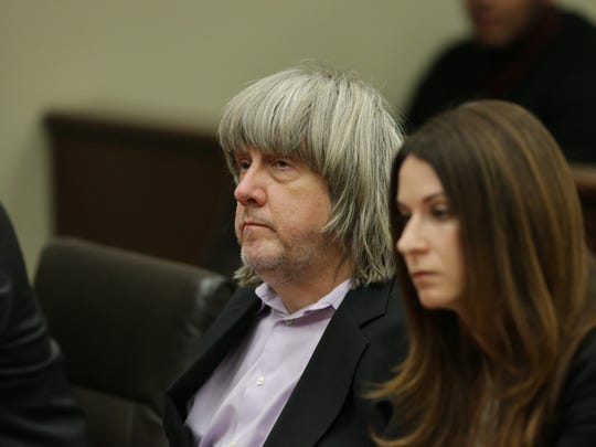 David and Louise Turpin are arraigned at the Robert Presley Hall of Justice courthouse in Riverside County on January 18, 2018. 