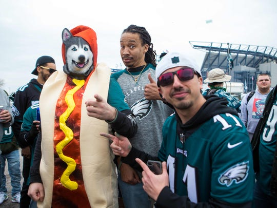 Eagles fans begin their tailgating early Sunday morning as they prepare for the Philadelphia Eagles to take on the visiting Minnesota Vikings in the NFC Championship game at Lincoln Financial Field.