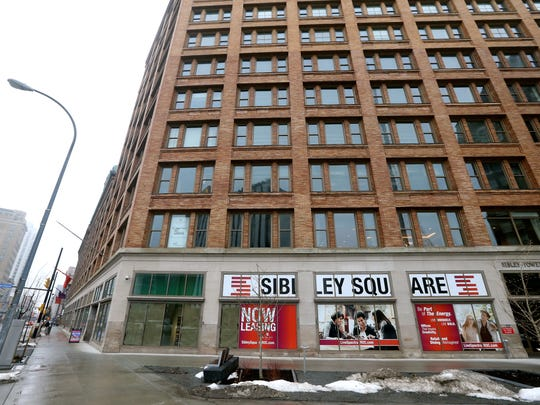 The old Sibley building is leasing residential and commercial space on Main St. in downtown Rochester.