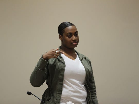 Alexandrea Myers testifies Monday about how Darcell