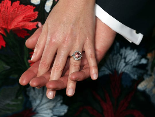 Princess Eugenie's engagement ring contains a padparadscha