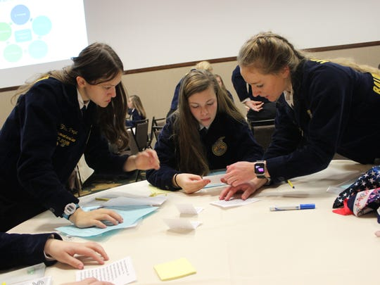 Student leaders from FFA Chapters across the state
