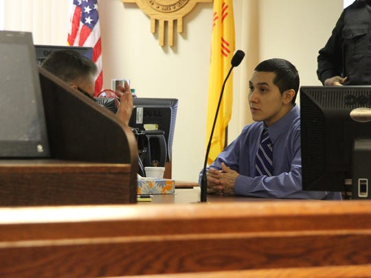Daniel Aguilera, 23, in Fifth Judicial District Court in Carlsbad Jan. 25. Aguilera was found guilty by a jury of second-degree murder in the 2015 shooting death of New Mexico State University Student Andres Rojo. The jury also returned a verdict of guilty on an accompanying charge of aggravated battery with a deadly weapon.