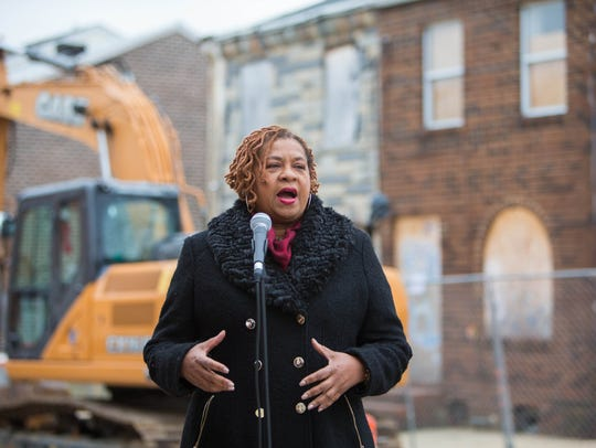 Wilmington City Council President, Hanifa Shabazz speaks