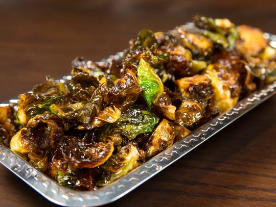 The Brussels sprouts is one of the shareable side dishes.