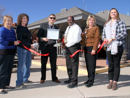 Pictured from left are, Deming-Luna County Chamber