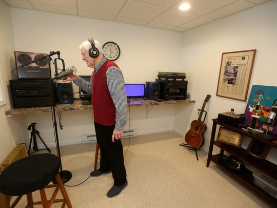 Don Alhart was able to recreate his sound studio in the basement of his new home in Pittsford.