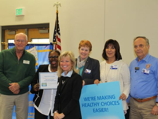 The Rotary Club of Immokalee is recognized by the Blue