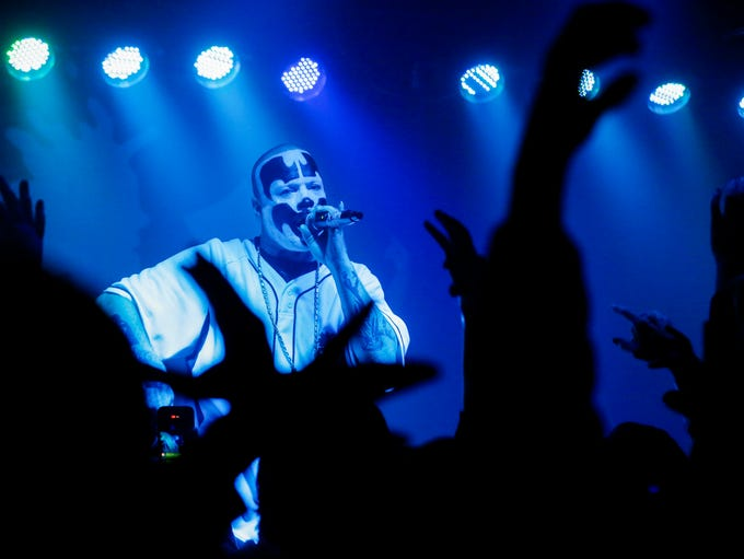 Shaggy 2 Dope performs at the Outland Ballroom on Monday,