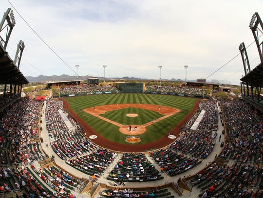 Arizona Diamondbacks play the Los Angeles Dodgers during