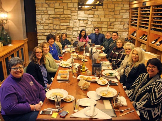 Charitable Giving Directive -  Hosted by The Diamond Galleria, fourteen local charity leaders joined together at a luncheon to discuss and brainstorm local nonprofit fundraising needs and The Diamond Galleria's 2018 charitable giving directive. Attending were Jill Kincaid of Chemo Buddies, Rachel Smith of Komen Evansville, Sandy Felz of Touch Indiana, Melanie Atwood of Gilda's Club, Linda E. White with Deaconess Foundation, Erika Taylor with YWCA Evansville, Bert Wheat with The Diamond Galleria, Abigail Adler with Ronald McDonald House, Adam Trinkel with Ascension Evansville, Suzanne Draper with Vanderburgh County CASA, Kirsten Wagmeister with Deaconess Heartsaver, Julie Hoon with Youth First Inc. and Debbie Hebbeler with TriState Multiple Sclerosis Association.