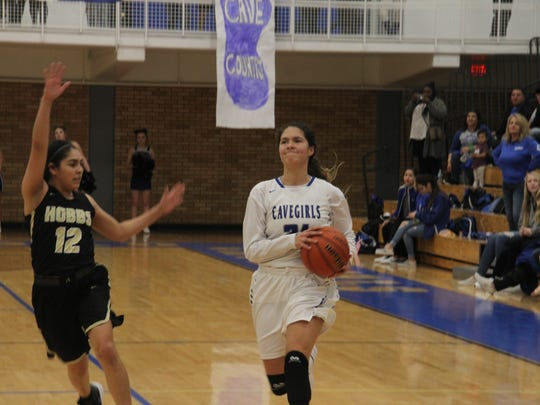 The Carlsbad Cavegirls face the Hobbs Lady Eagles in the regular season district championship game, Feb. 16 at the Carlsbad High School Gym.
