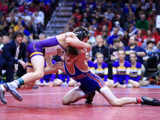 Adam Allard of West Sioux wins the state championship