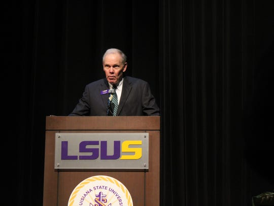 LSU-Shreveport Chancellor Larry Clark Monday discusses