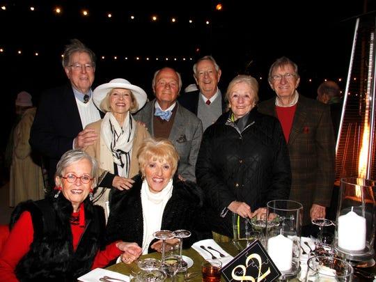 Standing (L) William Belden, Kathy and John Fox, Robert and Lexie Ellsworth, and John Darden. Sitting (L) Lyn Darden and Karen Belden.