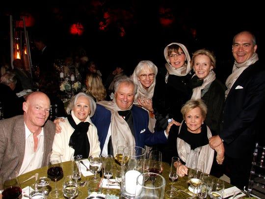Lance Eldred, Georgene Barnes, Roger Walther, Rita Stec, Wanda Kelley, Anne Newman, Bradley James. (R) Evelyn Hall.