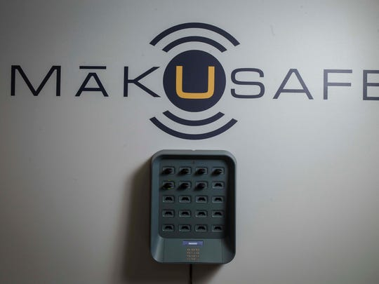 MakuSafe wall charger for bulk rechargingThursday, Feb. 21, 2018, in West Des Moines, Iowa. 