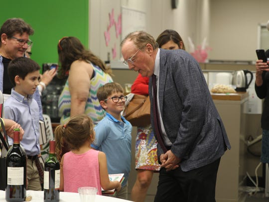 Bestselling author James Patterson greets young fans