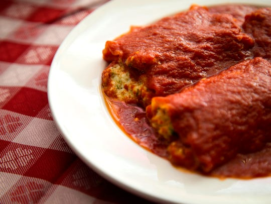 An order of Manicotti Speciale at Scotti's Italian