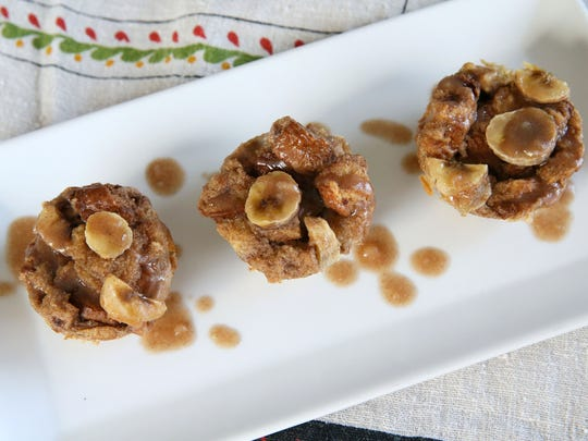 Banana foster french toast muffins can be made ahead..