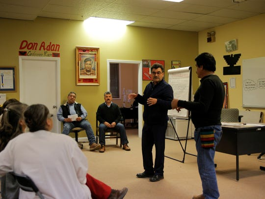 The UFW held a meeting Tuesday night to discuss the upcoming Cesar Chavez march on April 8.