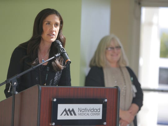 Andrea Rosenberg, assistant administrator of operations and support services for NMC, speaking at Wednesday's event.