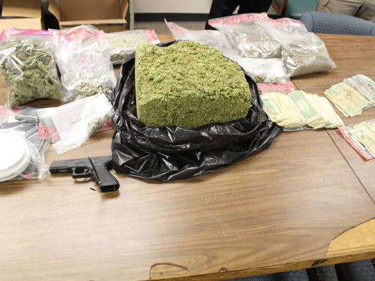 The haul from a recent drug investigation by Shreveport