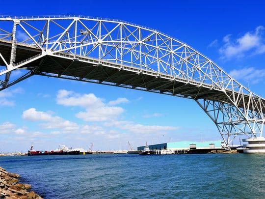 The Harbor Bridge in Corpus Christi.