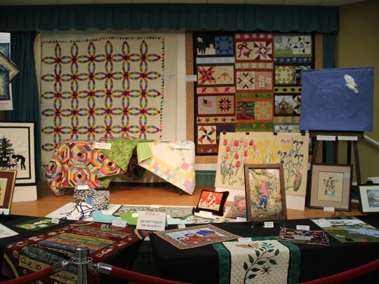 The Indian River Estates Quilters displayed a large