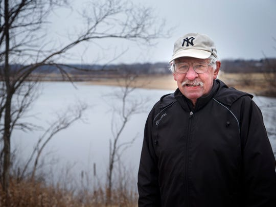 John Liepa at Raccoon River Park Friday, March 9, 2018. He has run every day since January 1977.
