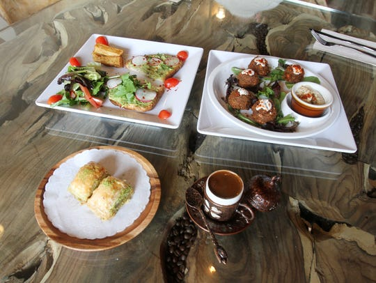 Some of the dishes on the menu at The Roaster Cafe