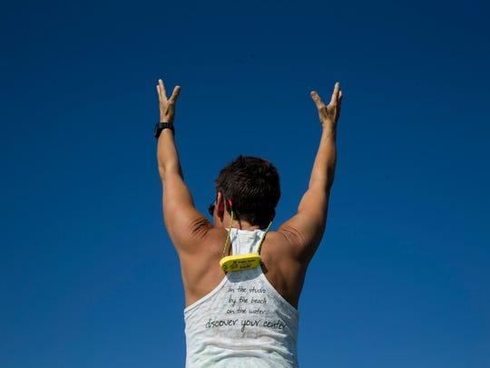 Jodi Ziajka, a yoga instructor with the Naples Yoga