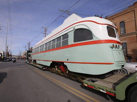 City officials welcome the first refurbished streetcar