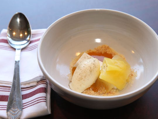 The Coconut Panna Cotta at Liberty Street Bistro in