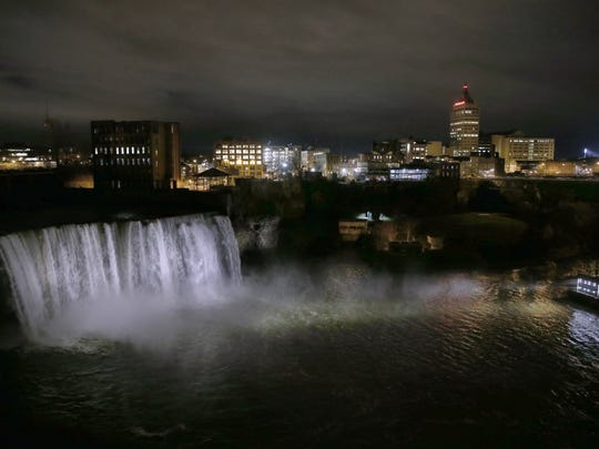 High Falls, also known as Upper Falls, on the Genesee River in Rochester.