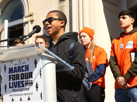 Approximately 13,000 marched in the Morristown March For Our Lives demonstration, a student-led nationwide protest demanding that the lives and safety of students become a priority and to end gun violence and mass shootings in their schools. . March 24, 2018. Morristown, NJ.