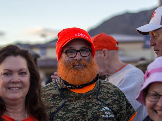 Joseph Cormie of upstate New York participates in the 29th Bataan Memorial Death March at White Sands Missile Range on Sunday, March 25, 2018.