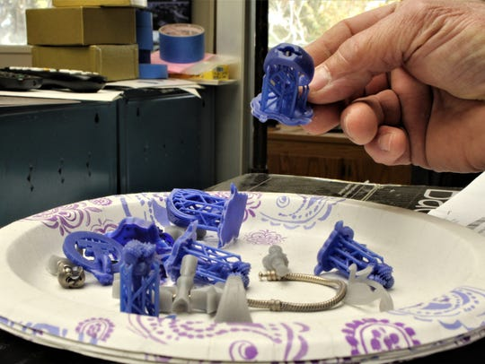 Using a 3D printer, Holland Jewelry Co. can make models