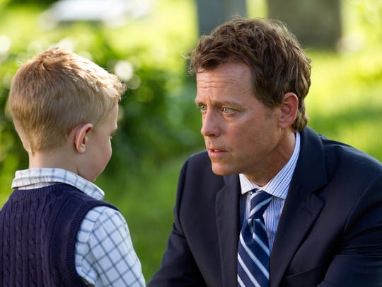 Colton (Connor Corum) tells his father, Todd (Greg