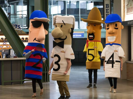 The Famous Racing Sausages, now sponsored by Johnsonville,