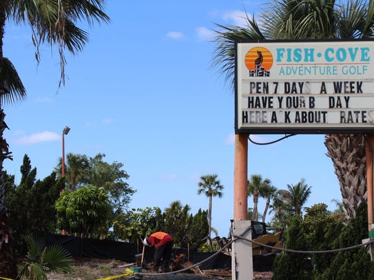 Demolition is underway at Fish Cove Adventure, a longtime