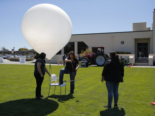 The K12 weather balloon was launched into orbit Wednesday