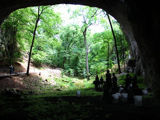 The opening of Smallin Civil War Cave is the largest of any in Missouri. Explorer Henry Schoolcraft wrote about the cave after finding it during his 1818-1819 survey of the Ozarks.